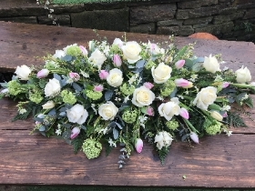White, Pink and Green Double Ended Arrangement