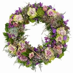 Purple and Lilac Wreath