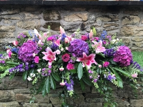 Pink and Purple Double Ended Arrangement